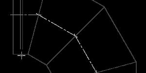 Колено вентиляционного трубопровода
